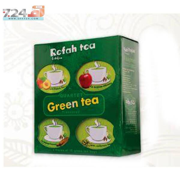 چای سبز کیسه ای 4 طعم رفاه لاهیجان