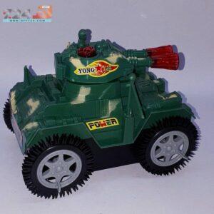 اسباب بازی جنگی تانک چراغ دار