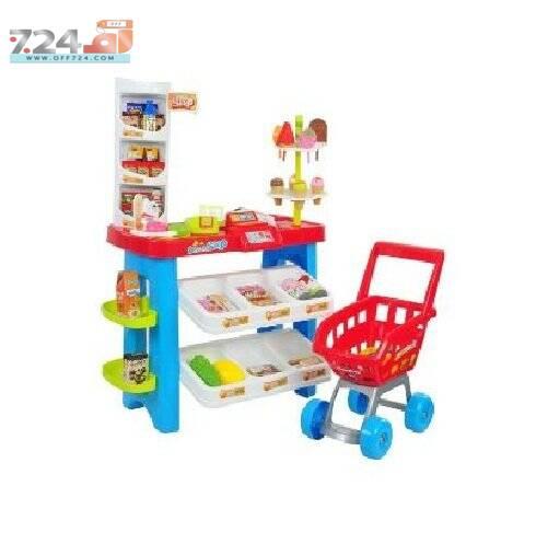 خرید اینترنتی اسباب بازی سوپر مارکت بچه ها به همراه چرخ خرید مدل دختر کفشدوزکی DESSERT