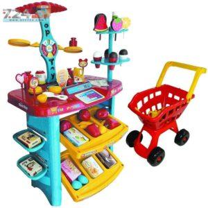 خرید اینترنتی اسباب بازی سوپر مارکت بچه ها به همراه چرخ خرید مدل تاپ توی Super Market Top Toy